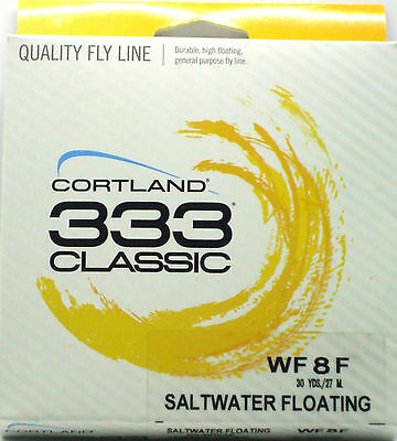 Cortland 333 Classic Saltwater 8 weight floating Fly Fishing Line BRAND NEW