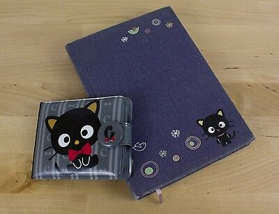 LOT of Hello Kitty CHOCOCAT Diary & Wallet Hard Cover Journal Plastic