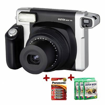 Bundle Fuji Instax 300 Instant Camera + 100 Wide Film+ Batteries