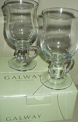Galway Crystal  Pack Of 2 X Latte  Glasses    New
