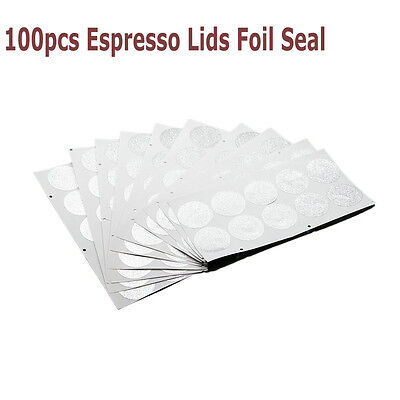 100X Espresso Lids Foil Seal for Empty Nespresso Disposable Capsule Coffee Cups