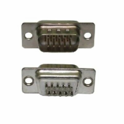 15 Pin HD15 D Sub Male Solder Type Connector