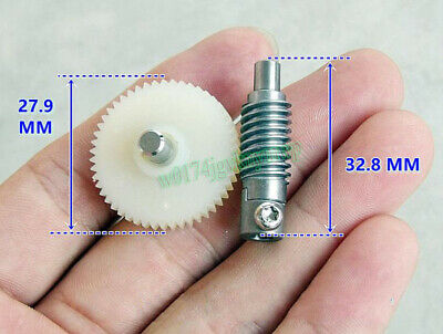 Metal Worm Wheel Reduction Gear Set Plastic Gear Reducer Kit For DIY Accessory