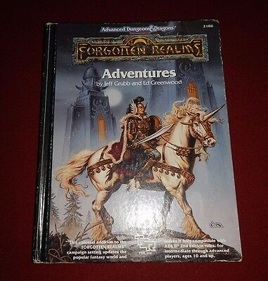 Advanced Dungions and Dragons : Forgotten Realms Adventures TSR 1990