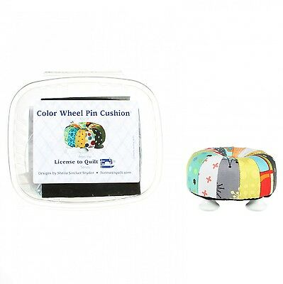 Color Wheel Pincushion Kit/pattern by License to Quilt