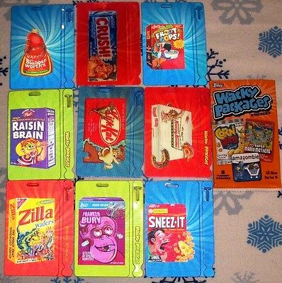 2012 Wacky Packages All New Series 9 {Ans9} Complete Motion Tag Set + Wrapper!