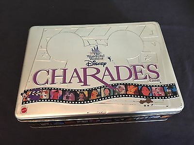 1999 Mattel Wonderful World Of Disney Charades Game Complete In Tin