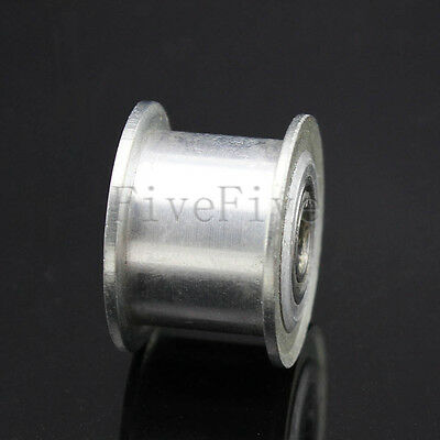 4/5/6mm Smooth Idler Pulley With Bearing For 10mm Width XL MXL HTD3M Timing Belt