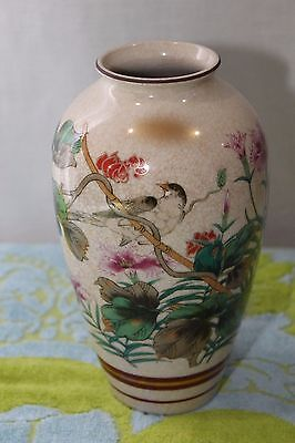 Vintage Japanese Vase KUTANI / SATSUMA TOYO Hand Painted And Signed