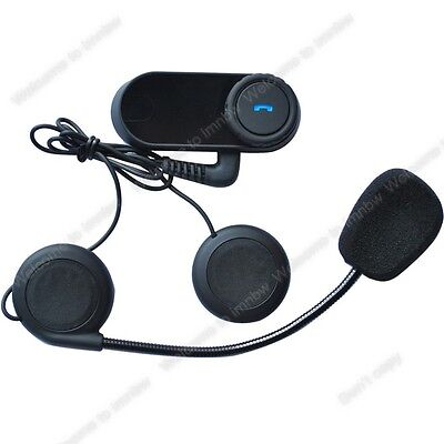 Motorcycle Helmet Bluetooth Motorbike Handsfree Headset Headphone for Music GPS