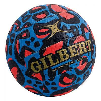 Gilbert Glam Blue Leopard Netball [Size 4] + FREE AUS DELIVERY