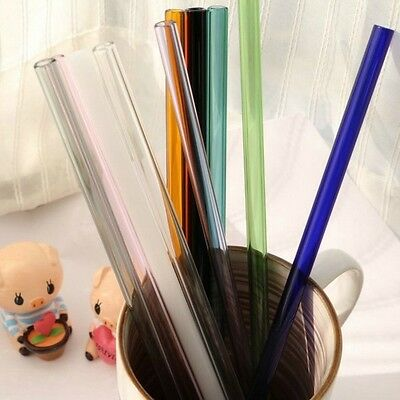 Pyrex Glass Straw Reusable Drinking Stick Rod Cocktail Stirrer Mixer Drink 8mm