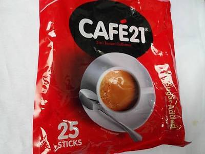 Cafe21 2 in 1 Instant Coffeemix 2 Packs x 25 Sticks No Sugar Added Free Shipping