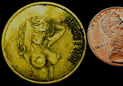R457: Risqué *Nude** Heads I win, Tails you lose Token - over 18's only