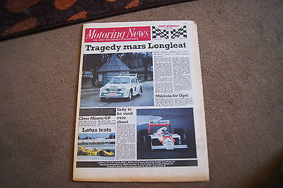Motoring News 2 March 1988 Lada Rally Review Longleat Stages WSPC Formula E