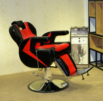 Adjustable Hydraulic Barber Reclining Salon Chair Hairdressing Beauty Office