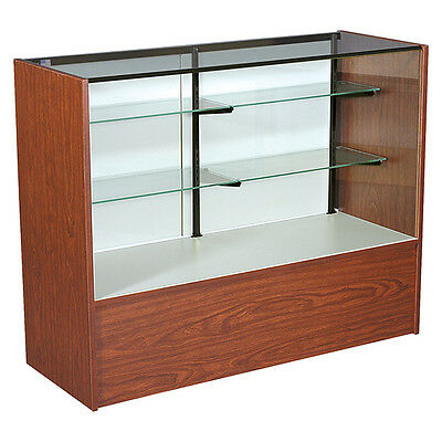"""New or Retails Economy Cherry 70"""" Full vision showcase 38""""h x 18""""d"""
