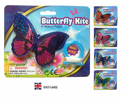 MINI BUTTERFLY Flying Kite Childrens Kids Line Kites Outdoor Park Beach Fun Toy