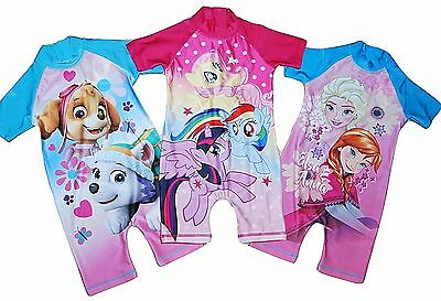 Girls Character Swimming Costume Suit All in One 2-3 Years