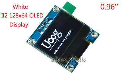 "0.96"" I2C IIC 128x64 OLED LCD LED Display Module White Panel SSD1306 For Arduino"