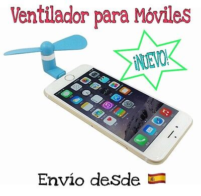 Ventilador iPhone Samsung Android (5 pines) Fan micro USB