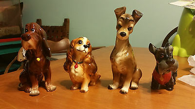 Vintage Lady and the Tramp Figurines