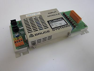 Bruce Systems 9760132 Input Module, 27VDC, PCB 3161101 and 316108, Used