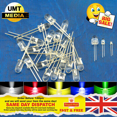 Ultra Bright LEDs 3mm/5mm/10mm Red/Blue/Green/White/Yellow Lamp Emitting Diode