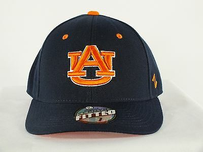 Auburn Tigers Ncaa Adult Fitted Navy Cap Hat New By Zephyr D142