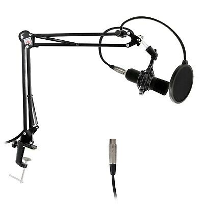 NEW Pyle PMKSH01 Suspension Boom Scissor Microphone Stand Universal Table Mount