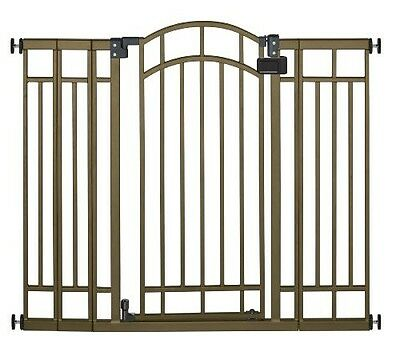 Extra Tall Walk-Thru Gate Baby Safety Infant Pet Dog Child Toddler Stairs Bronze