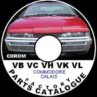 HOLDEN VB VC VH VK VL VN VP Commodore Factory Parts Restoration Catalogue CD