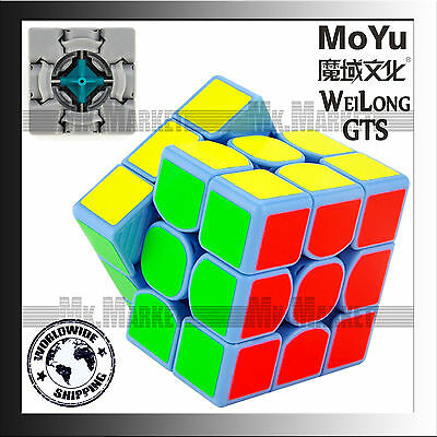 MoYu 3 layers WeiLong GTS Speed Cube Blue | Authentic Wei Long GTS Magic Cube