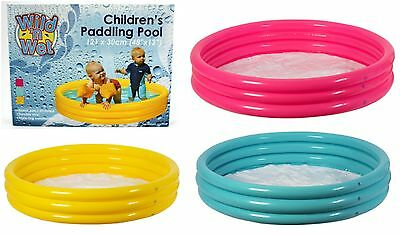 Kids Children Inflatable Swimming Paddling Pool Baby Garden Outdoor Toys 3 Ring