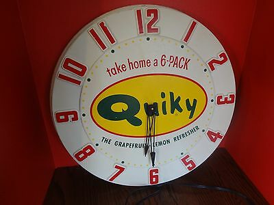 Vintage QUIKY WALL CLOCK Extremely Rare Working - Detached Back ***FAST S/H***