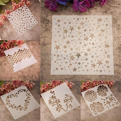 Stars Heart Flower Layering Stencils Template DIY Scrapbooking Album Painting