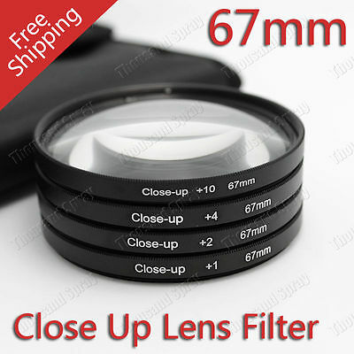 67MM Close Up Macro Lens Kit +1 +2 +4 +10 for Canon Nikon Sony DSLR Camera
