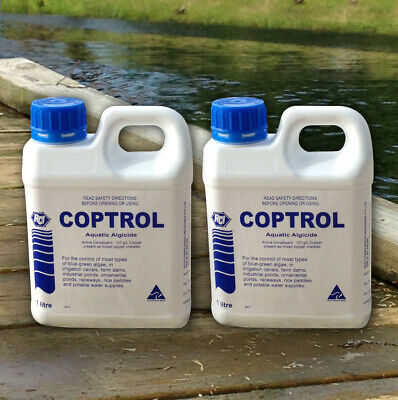 Coptrol Commercial Grade Algicide Twin Pack - For Algae Control in Dams & Ponds