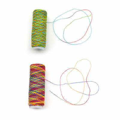110m Sewing Nylon Thread Rainbow Colour Embroidery Needlework Thread Hand Craft