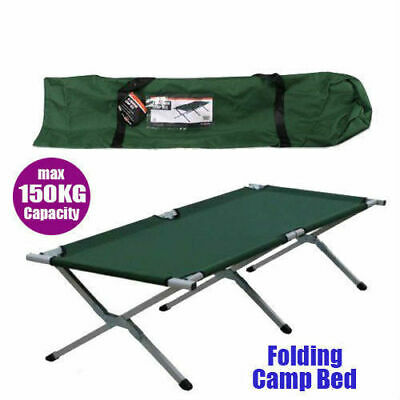 Folding Camping Bed With Carry Bag Stretcher Light Weight Camp Portable