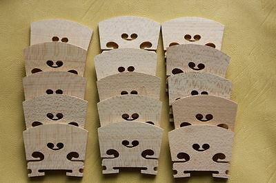 Violin bridges 50 pieces 4/4 size violin accessories maple material