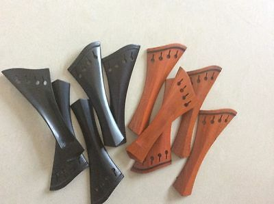 Violin tailpieces 4/4 wholesale 10 pcs ebony and boxvd 5 pcs each
