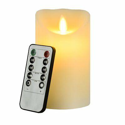 Flickering Flameless Pillar LED Candle Lights Remote Wedding Birthday Party New