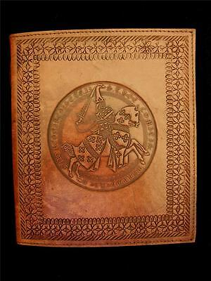 Medieval Knight - Large Handmade Leather Sketchbook Diary Journal - Guest Book