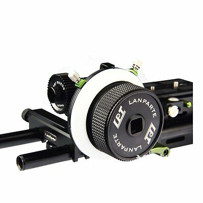 Lanparte FF-02 AB Hard Stop Follow Focus Quick Release 15mm Rod Support System