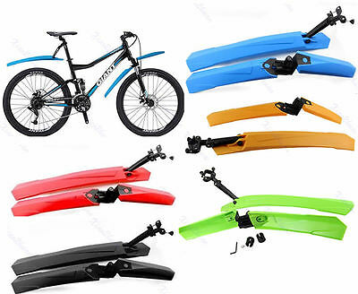Cycling Mountain Bicycle Bike Front Rear Mud Guards Mudguard Fenders Set New