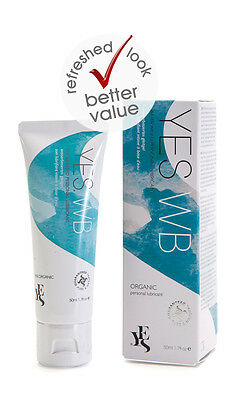 YES® WB Water Based Personal Lubricant Organic Ingredients 50ml Tube