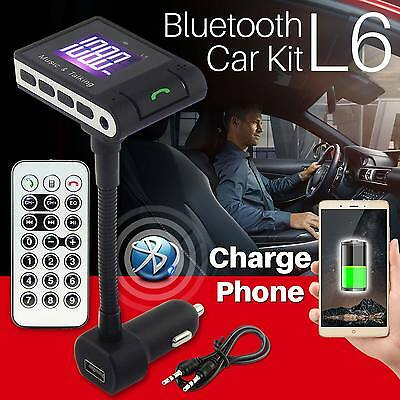 Bluetooth Fm Transmitter Hands-free Car Kit USB Charger TF For iPhone Samsung