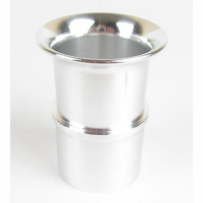 Weber 40 DCOE slot in polished alloy trumpet ram pipe stack 38mm long UK made