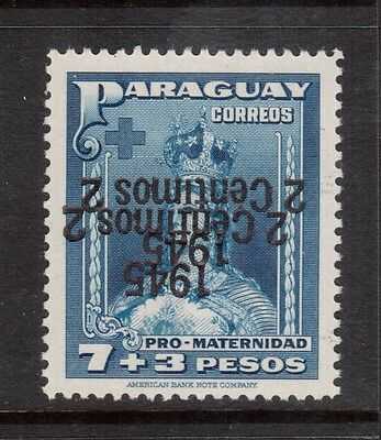 Paraguay #422 VF/NH Double Inverted Overprint Signed Variety